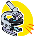 A picture of a microscope.